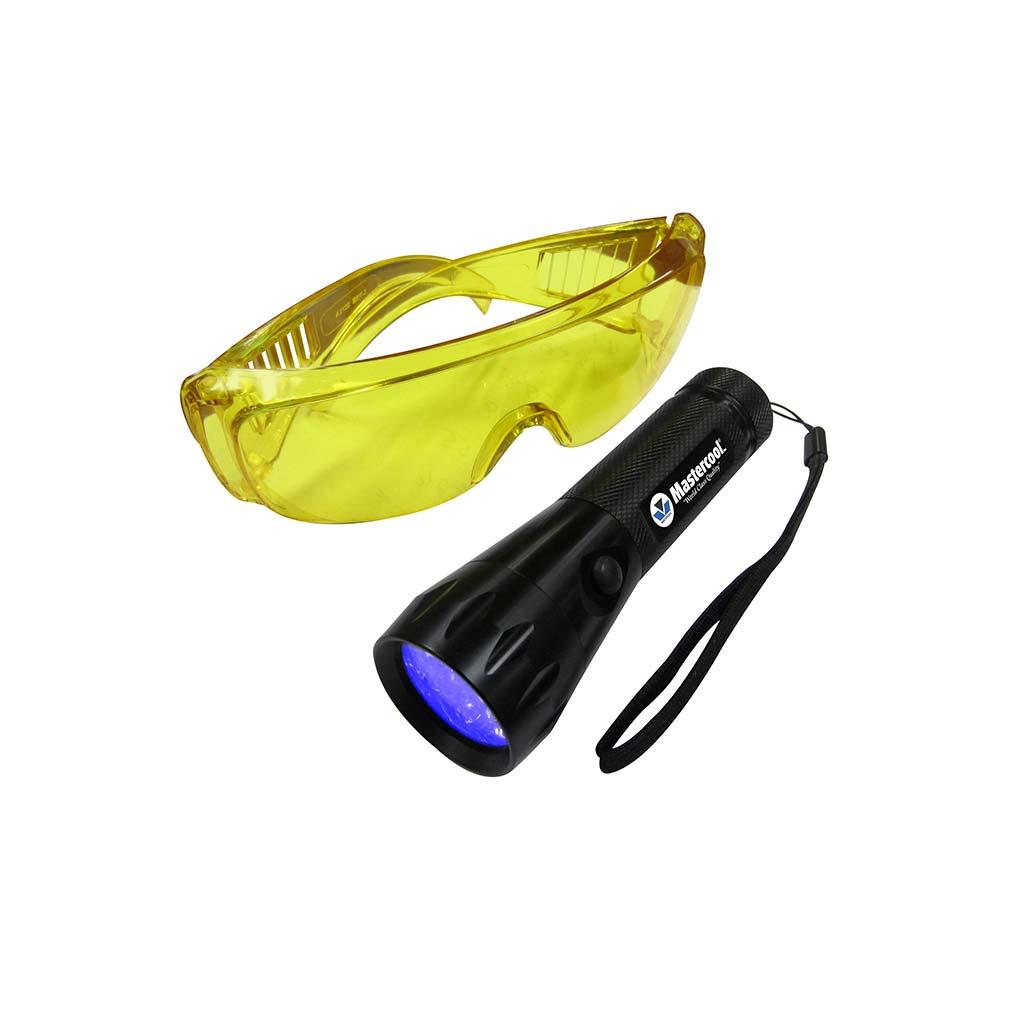 UV-lampa och skyddsglasögon
