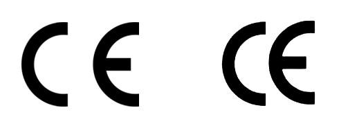 Äkta och falsk CE-märkning