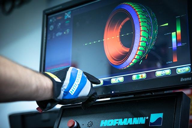 Balanseringsmaskin med 3D-diagnos